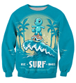 Cute Cartoon Pokemon Sweatshirts Squirtle 3D Sweatshirt Men Women Long Sleeve Outerwear Crewneck Pullovers