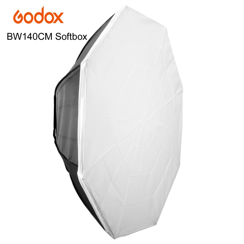 GODOX Studio Photography 140cm/55 Octagon Softbox with Bowens Mount Photo Soft Box Bowens Softbox with Carrying Bag godox 28x40 70x100cm softbox with bowens mount for pro photography studio strobe flash light free shipping
