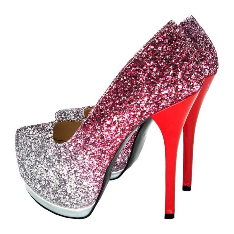 Hauts Plate Meilleure Mince Des Mode Chaussures Qualité Talons Femme Femmes Rouge Sexy forme NoirY0737305q Pompes dBexCo