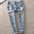 Mulheres Capris Lápis Calças Jeans Da Moda calças de Brim QPD000234-1