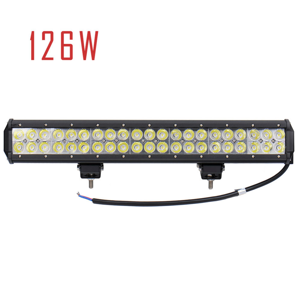 GERUITE Brand 20 Inch 4D 126W LED Work Light Bar for Off Road Work Driving Offroad Boat Car Truck 4x4 SUV ATV Spot Flood Combo 8 inch 40w cree led light bar for off road indicators work driving offroad boat car truck 4x4 suv atv fog spot flood 12v 24v