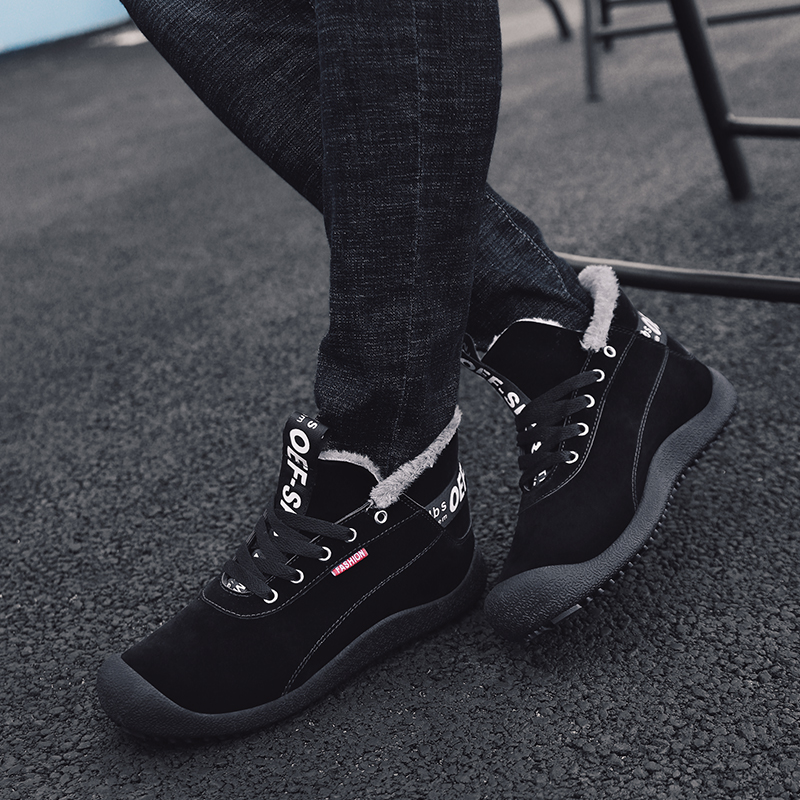 YWEEN Men 39 s Boots Winter With Fur 2018 Warm Snow Boots Men Winter Boots Shoes Men Footwear Fashion Rubber Ankle Shoes 39 48 in Snow Boots from Shoes