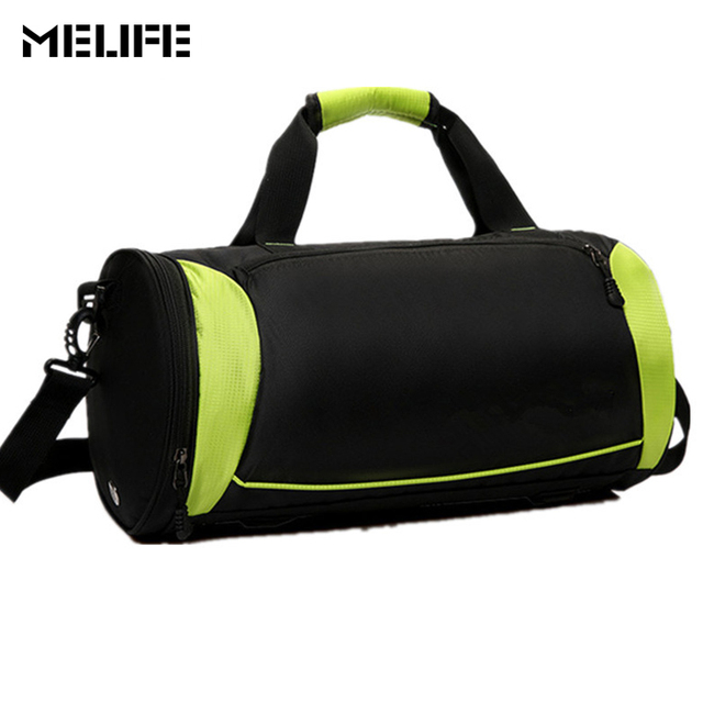 MELIFE Nylon Gym bag Waterproof yoga Handbag Professional Men Women Fitness  High Quality Shoulder Bags Basketball Travel pack 1a1479982b1d9