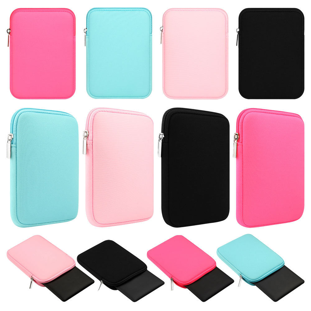 Universal Tablet Sleeve Bag Case Pouch For iPad 2 3 4 Air 2 1 Shockproof Sponge Zipper Pocket Cover For iPad 9.7'' 2017 2018