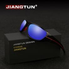 JIANGTUN, новинка, спортивные солнцезащитные очки для мужчин и женщин, поляризационные, фирменный дизайн, зеркальное покрытие, UV400, линзы для вождения, рыбалки, JT2211B