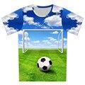 Nuevo 2016 verano niños 3D de la camiseta de baloncesto de fútbol bala de impresión Weed camiseta chico encantador creativo Tee Tops ropa del bebé