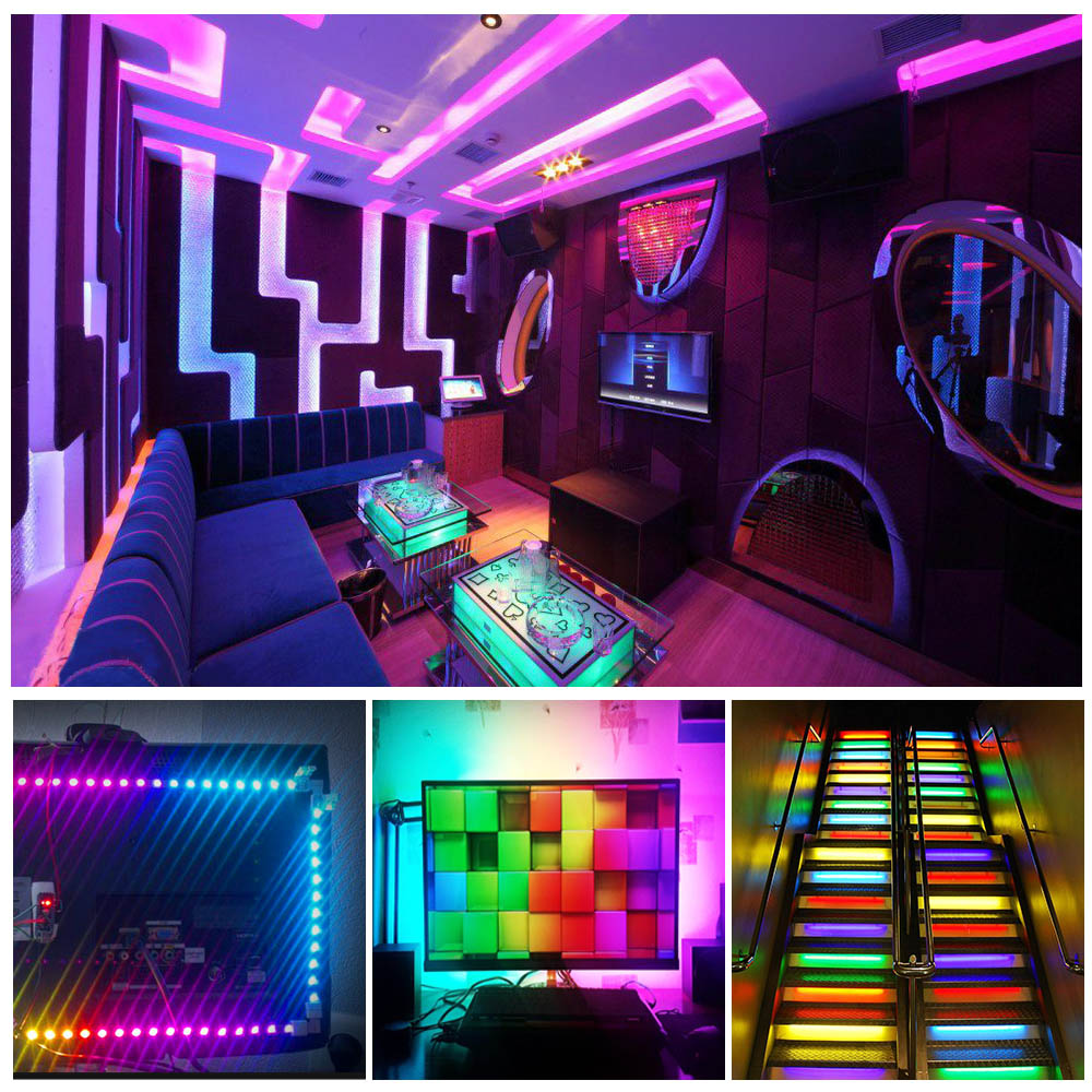 Image 5 - DC 5V WS2812B Bluetooth USB LED Strip 5050 APP Controller RGB individually addressable Led Strip Light WS2812 pixel strips Set-in LED Strips from Lights & Lighting