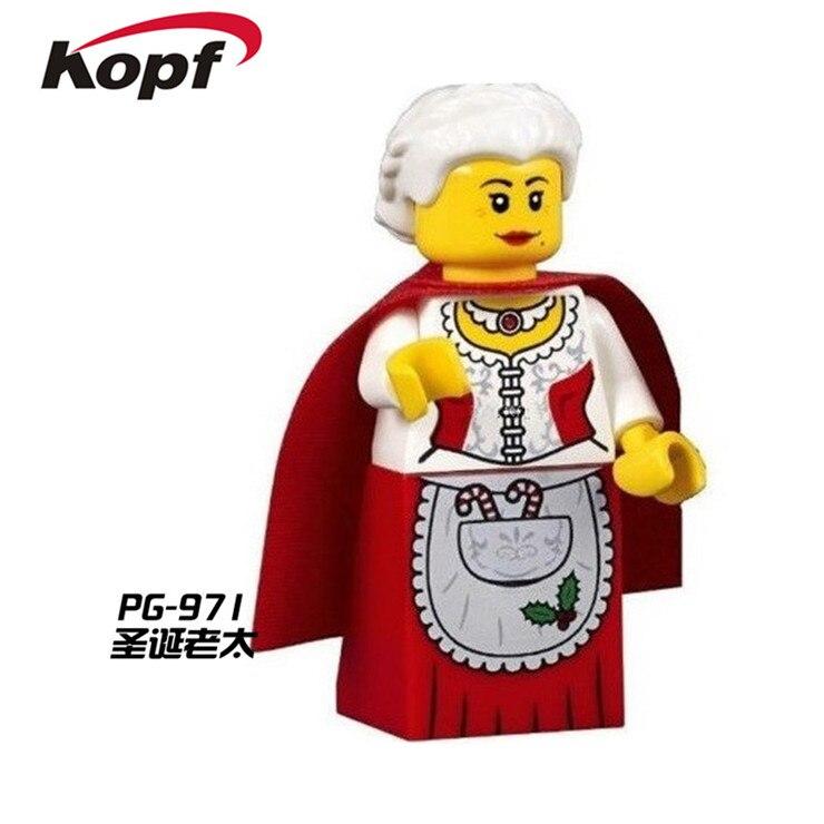 PG971 20Pcs Super Heroes Star Wars Old Granny C3PO Yoda Bricks Action Builging Blocks Education Toys for children Christmas Gift