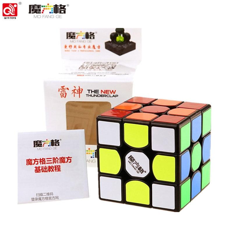 цена QiYi 3x3x3 the new Thunderclap Black 3Layer Mofangge Qiyi 5.7cm 3layer Thunderclap V2 Stickerless QiYi Valk 3 Black Magic Cube онлайн в 2017 году