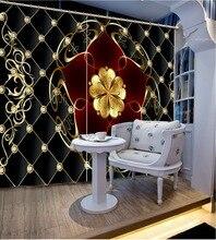 3D Window Curtain Dinosaur print Luxury Blackout For Living Room  soft curtains