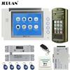 JERUAN 8 Video Door Phone Doorbell Intercom System Kit 2 Record Monitor NEW Metal Waterproof Password