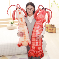 80cm Large Skin Shrimp Stuffed Animal Toys Christmas Plush Toys Funny Magic Toys Christmas Gifts