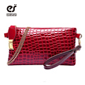 ECOSUSI Crocodile Women Messenger Bags Gorgeous Women Clutch Luxury Ladies Purse PU Leather Handbag Chain Women Bag Wallet