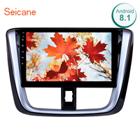 Seicane 2din Car Radio GPS Multimedia Player Head Unit 10.1 Android 8.1 For 2014 2015 2016 2017 TOYOTA VIOS Yaris support DVR