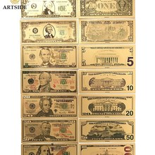 Все типы американская золотая фольга доллар банкнота поддельные деньги искусство ремесла Высокая коллекция Прямая поставка