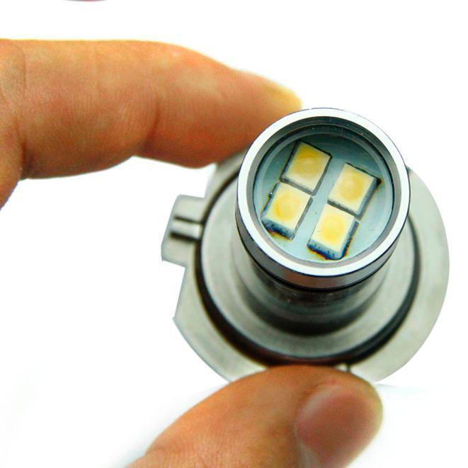 kongyide Healight Bulbs H7 6000K 100W LED 20-SMD Projector Fog Driving DRL Light Bulbs HID White NOV9