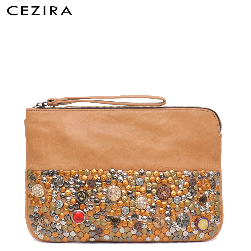 CEZIRA Women Bag Vegan Leather Day Clutch Women Purse&Handbag Bohemian Casual Rivets Waist-Let Sequined Messenger Bags for GirlCEZIRA Women Bag Vegan Leather Day Clutch Women Purse&Handbag Bohemian Casual Rivets Waist-Let Sequined Messenger Bags for Girl