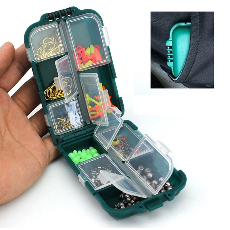 157pcs/set Rock Fishing Accessories Kit PP ABS Fishhook Lead Sinker Swivel Connector Space Bean Set Accessories Box