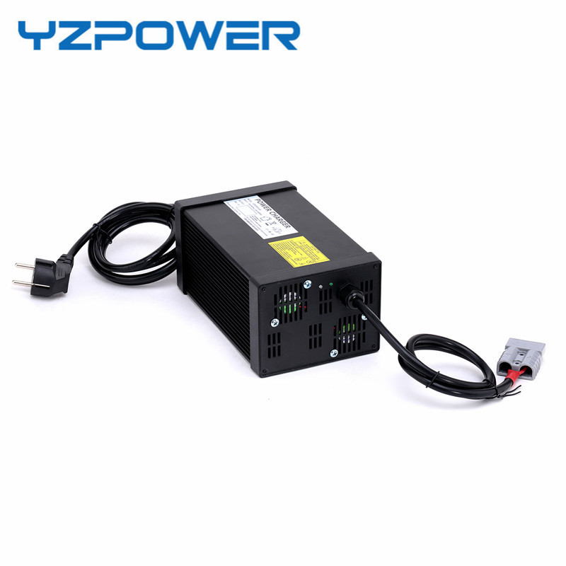 цена на YZPOWER 14S 58.8V 10A 11A 12A 13A 14A 15A Lithium Li-ion Lipo Battery Charger for 48V Battery