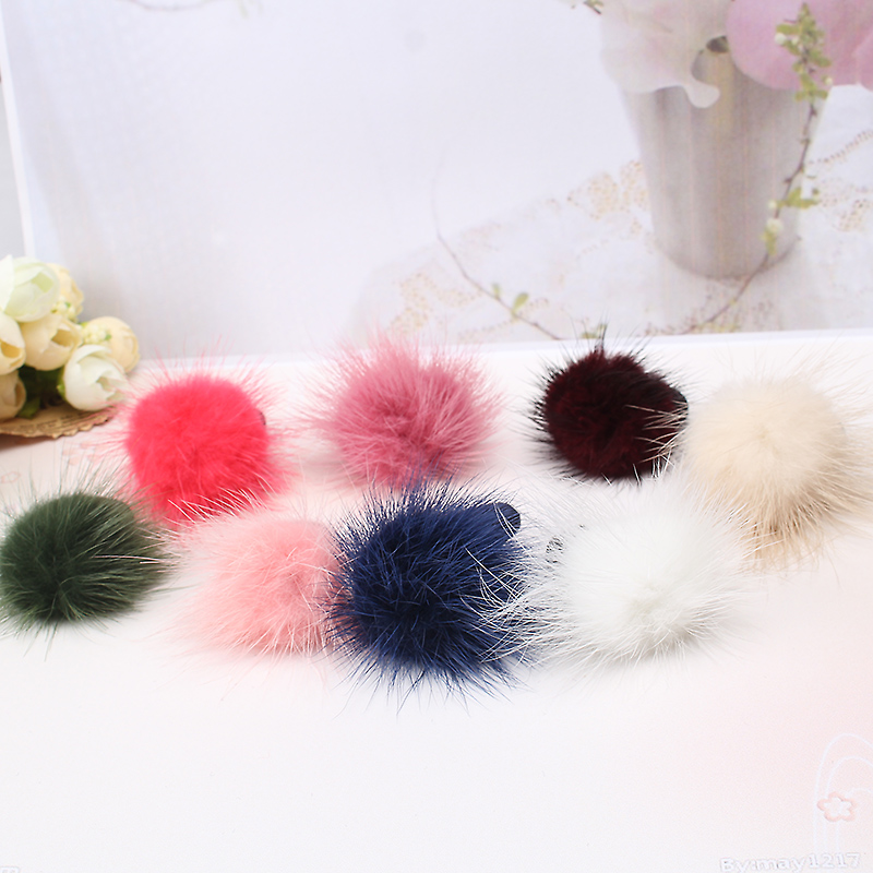 M MISM Lovely Multicolor Fluff Ball Hair Accessories Rubber Band Gum for Elastic Hair Bands Scrunchy for Girls Kids Children m mism new arrival korean style girls hair elastics big bow dot flora ponytail rubber hair rope hair accessories scrunchy women