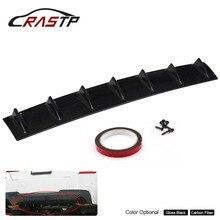 RASTP-Shark Fin Diffuser Rear Bumper Chassis 7 Wing Lip ABS Universal Carbon/Black Size L RS-LKT025-L