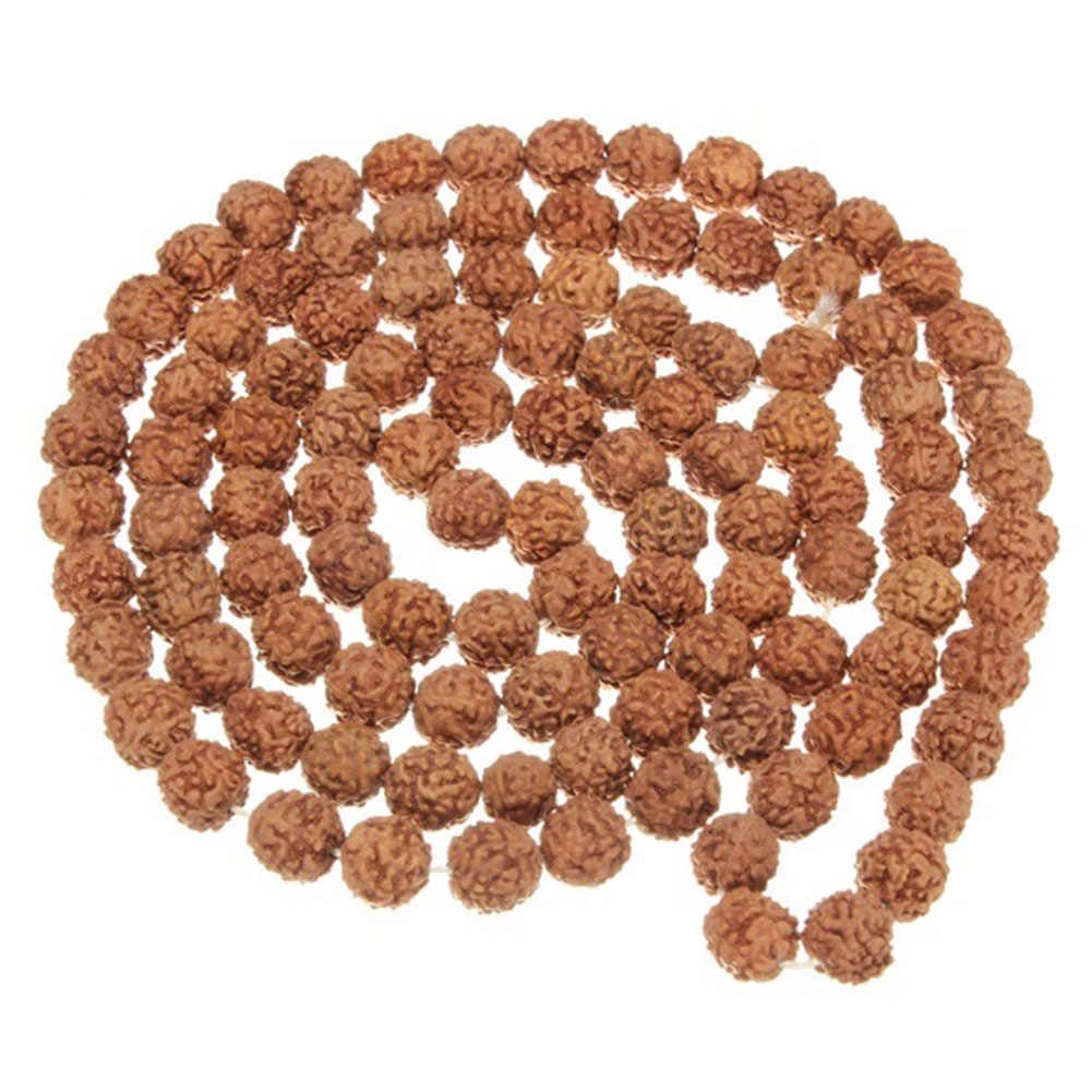 New Arrival Natural Rudraksha Japan Mala 108 +1 Bead Hindu Prayer Meditation Buddhist for Meditation Practice Bracelet