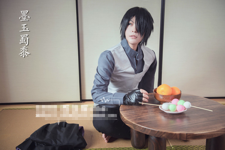 THE LAST -NARUTO THE MOVIE Uchiha Sasuke Cosplay Costume Custom Made Uniform Hot Sale Free Shipping hot sell free shipping seraph of the end krul tepes pink long clip ponytail cosplay party wig hair