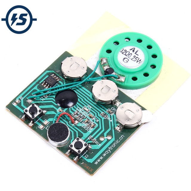 30secs 30s key control sound voice audio recordable recorder module 30secs 30s key control sound voice audio recordable recorder module chip programmable music board for greeting m4hsunfo