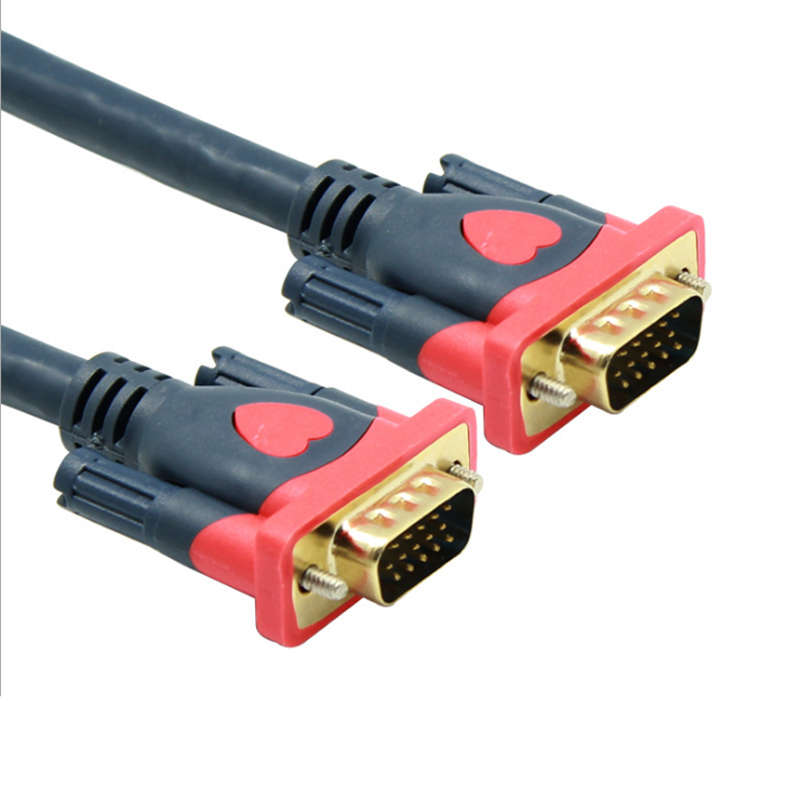 1080P VGA Cable Gold-plated Connector 1.5m 3m 5m 10m 15m 20m VGA to VGA Cable for computer projector monitor screen