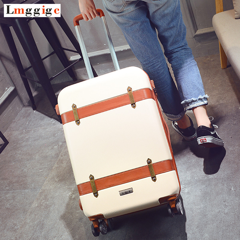 202224 inch Rolling Travel Luggage Suitcase bag with Universal Wheel,Vintage ABS Trolley Case,New Box,Fashion Carry-On stainless steel jewelry cleaning machine household practical ultrasonic cleaner from china manufacturers bst 200
