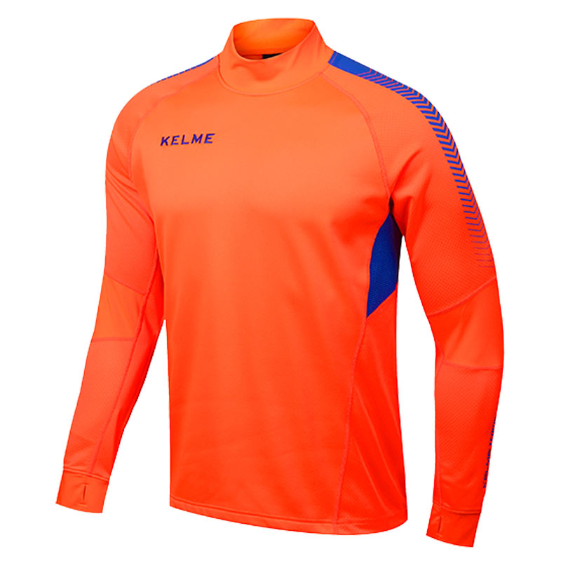Kelme K089 Men Long Sleeve Thumb Buckle Training Light Board Team Sportswear Football Jersey Orange original projector lamp elplp71 for epson eb 475w eb 475wi eb 480 eb 480t eb 485w eb 485wi eb 485wt powerlite 470