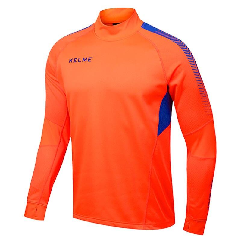 Kelme K089 Men Long Sleeve Thumb Buckle Training Light Board Team Sportswear Football Jersey Orange шлифмашина угловая metabo w 850125 125мм 850вт 601233010
