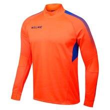 Kelme K089 Men Long Sleeve Thumb Buckle Training Light Board Team Sportswear Football Jersey Orange