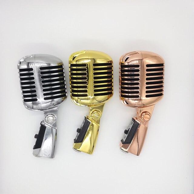 55SH Retro Mic Professional Ribbon Microphone Sliver Rose Golden 55 sh II Classic Vintage Style Recording Studio Microphone