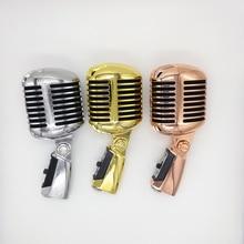 55SH Retro Mic Profesyonel Şerit Mikrofon Şerit Gül Altın 55 sh II Klasik Vintage Stil Kayıt stüdyo mikrofonu
