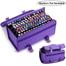 120 buracos escola arte marcador pencilcase para o toque caneta colorida penalty pencilcase crianças caixa de armazenamento pintura papelaria bolsa