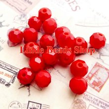 Free shipping AAA Top Quality 8mm Red Coral Crystal 5000 Round faced Beads 360pcs/lot RB0800466