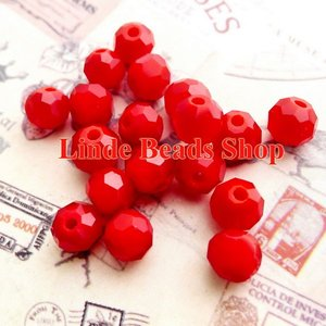 Image 1 - Free shipping AAA Top Quality 8mm Red Coral Crystal 5000 Round faced Beads 360pcs/lot RB0800466