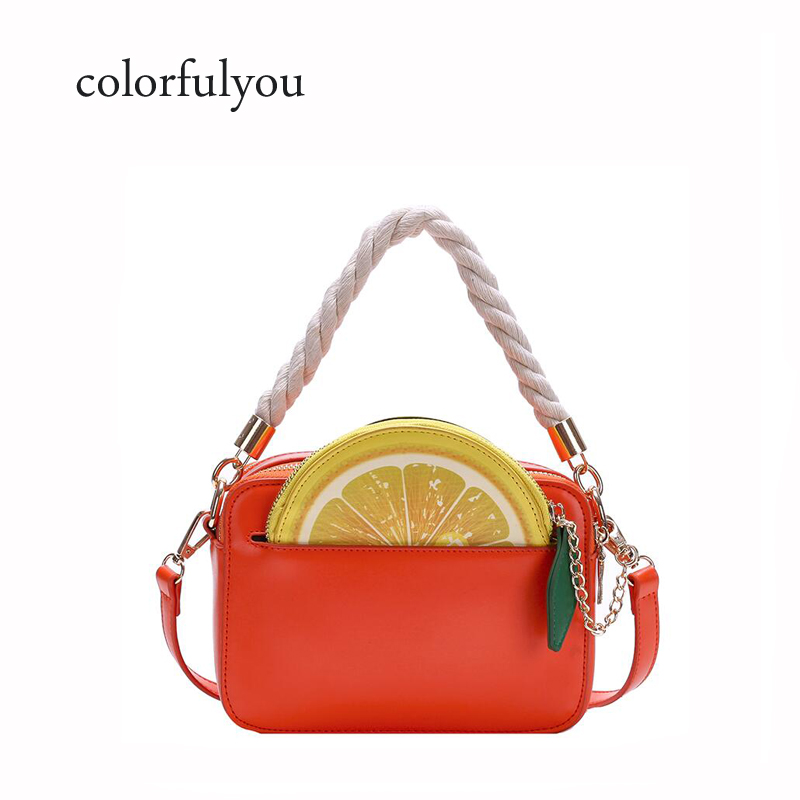 2019 Brand PU Leather women bag Cute lemon Handbag for women Lovely fruit Bag with Chain shoulder Crossbody bag purse for girls2019 Brand PU Leather women bag Cute lemon Handbag for women Lovely fruit Bag with Chain shoulder Crossbody bag purse for girls