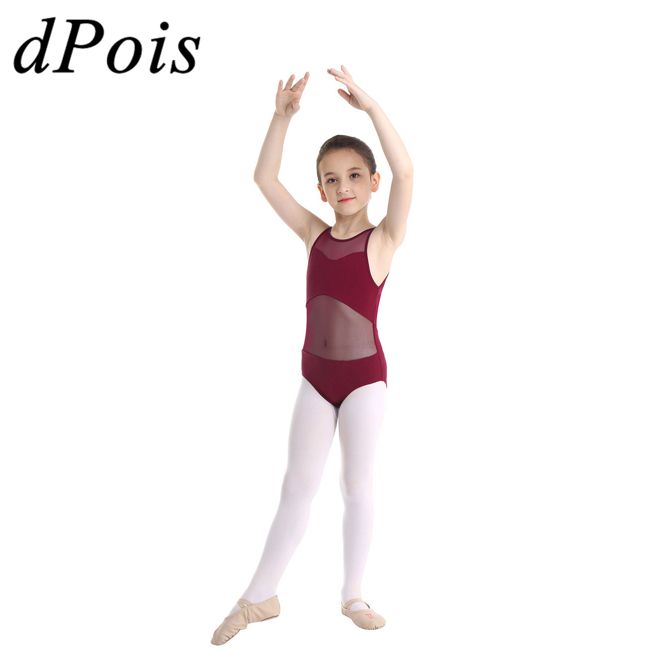 Todder Baby Girls Ballet Leotards Tights 3-10 Years Old Kids Dance Leggings Pants Footed