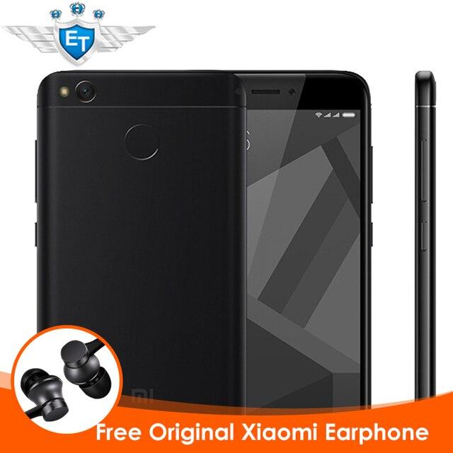 "Оригинал Xiaomi Redmi 4 Х 4X2 GB 16 ГБ Смартфон 5.0 ""HD Экран Snapdragon 435 Окта основные 4100 мАч 13MP MIUI 8.2 ОТА Отпечатков Пальцев"