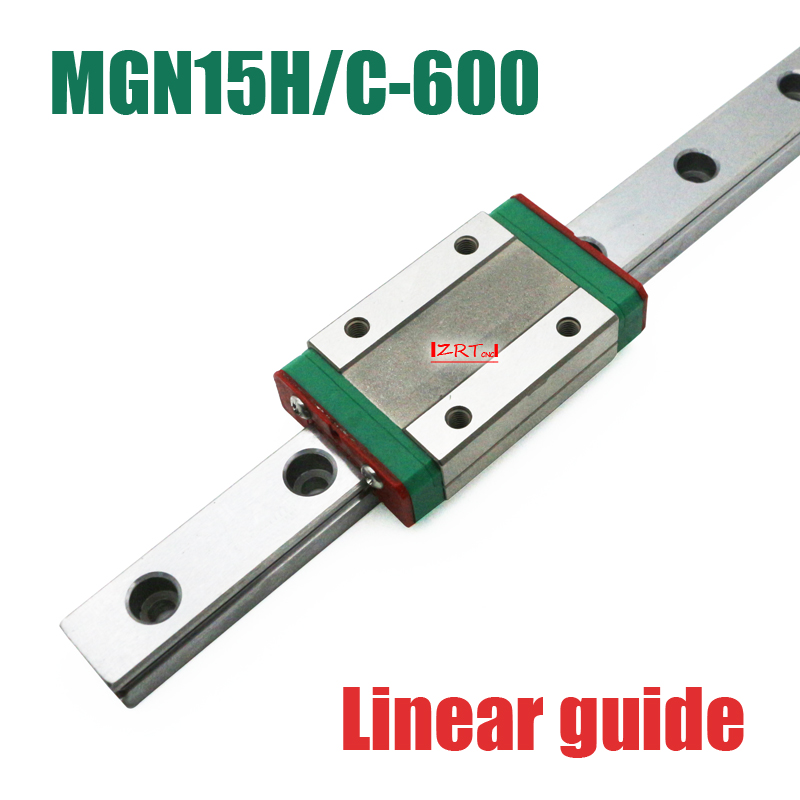 CNC part 15mm linear rail guide MGN15 length 600mm with mini MGN15H / C linear block carriage miniature linear motion guide way cnc part mr7 7mm linear rail guide mgn7 length 600mm with mini mgn7c linear block carriage miniature linear motion guide way