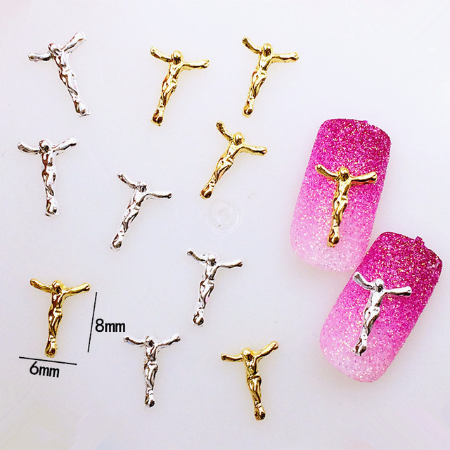 10pcs/bag Japan New 3D Nail Art Decoration Metal Nail Sticker Alloy ...
