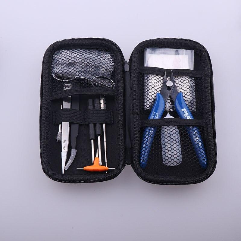 XFKM Sigaretta Elettronica FAI DA TE Borsa Degli Attrezzi Pinze Wire Kit Bobina Riscaldatori Jig Avvolgimento Per Imballaggio Sigaretta Elettronica Accessori