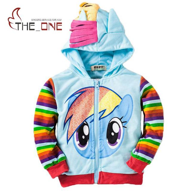 Kids Girls Unicorn Model Hoodie Clothes 6 styles Pony Zipper Striped Leopard Hooded Coat Clothing Children Costume Outsuit T007