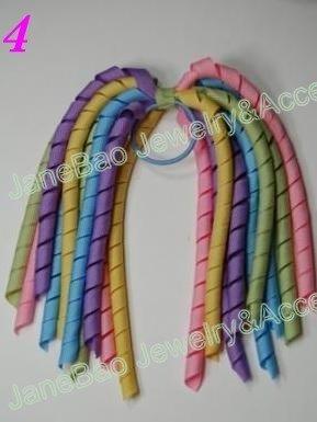 Много разных цветов, 100 шт цветные банты korker ponys