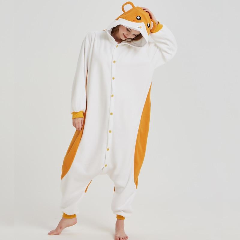 Cartoon Mouse Hamtaro Kigurumi Polar Fleece Cosplay Onesie Costume Animal Pajamas Halloween Carnival Masquerade Party Jumpsuit (5)