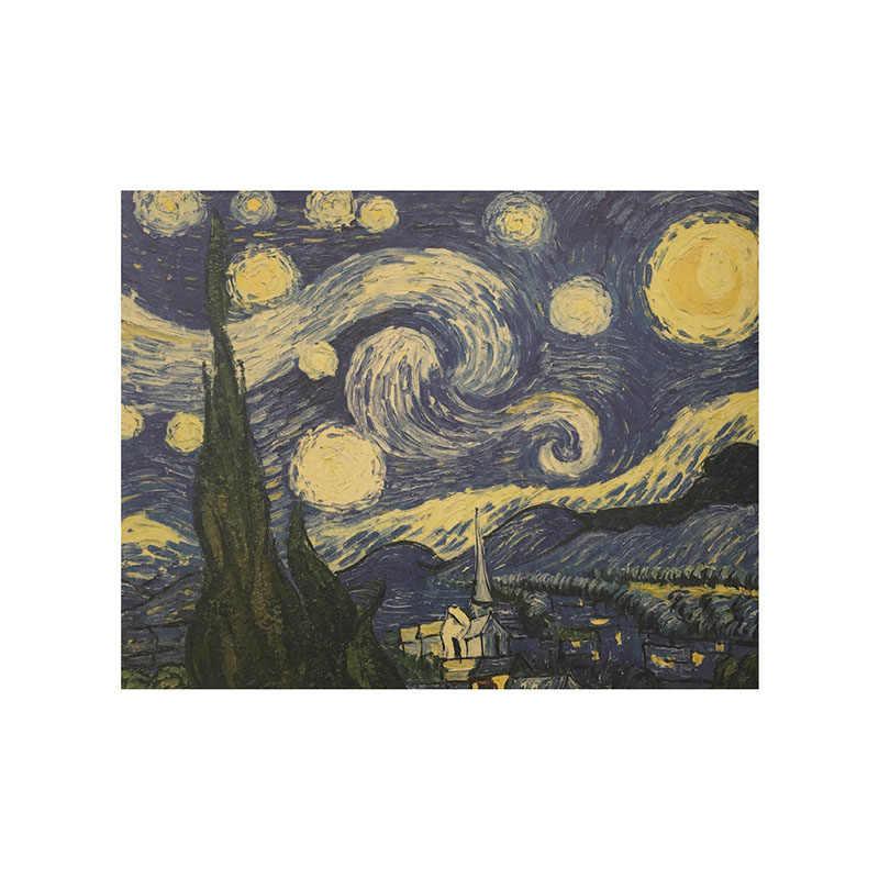 51.5x36 سنتيمتر الرجعية كرافت ورقة فان جوخ سلسلة المشارك عباد الشمس الحديثة الفن التجريدي النفط اللوحة مقهى جدار ملصقا الزخرفية
