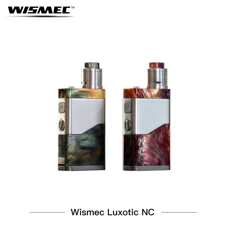 Electronic Cigarettes Kit Wismec LUXOTIC NC Box Mod Kit Resin Vaporizer 250w Huge Power Vape Guillotine V2  RDA Tank E Cigarette