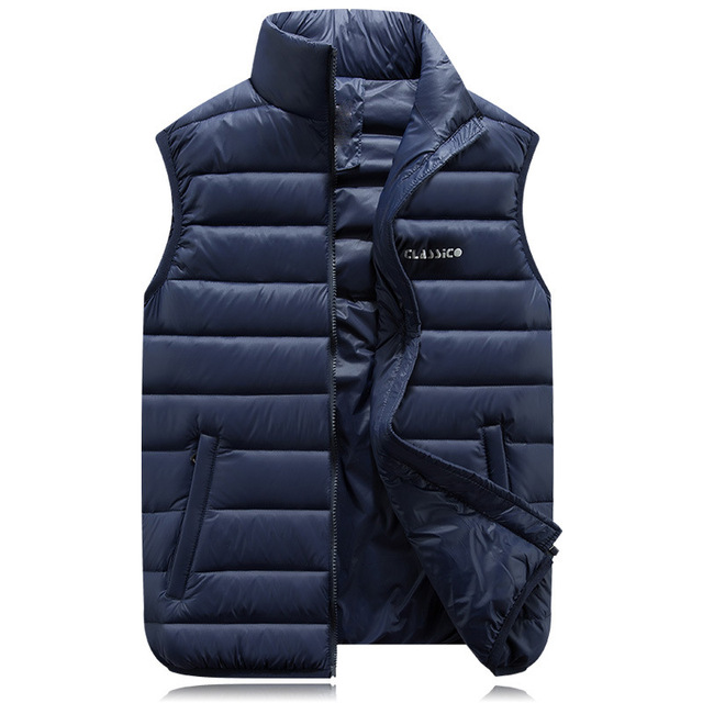2016 autumn and winter new straight Men's down jacket vest Sleeveless solid color Coat Cotton Brand Winter Outdoors Waistcoat